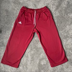 Adidas Clima Warm Sweatpants Burgundy Size Large